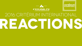 2016 Critérium International Reactions