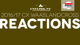 2016/17 CX Waaslandcross Reaction