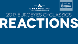 2017 EuroEyes Cyclassics Reactions