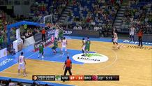 Strelnieks floater, draws foul