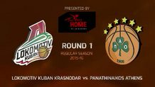 Round 1: Lokomotiv Kuban Krasnodar vs. Panathinaikos Athens (Highlights)