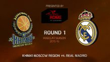 Round 1: Khimki Moscow Region vs. Real Madrid (Highlights)