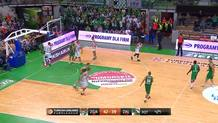 Mateusz Ponitza Misses Shot and Puts Rebound In