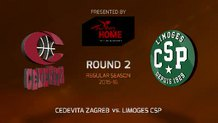 Round 2: Cedevita Zagreb vs. Limoges CSP (Highlights)