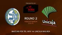 Round 2: Maccabi FOX Tel Aviv vs. Unicaja Malaga (Highlights)
