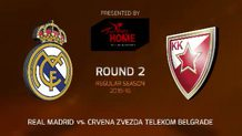 Round 2: Real Madrid vs. Crvena Zvezda Telekom Belgrade (Highlights)