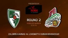 Round 2: Zalgiris Kaunas vs. Lokomotiv Kuban Krasnodar (Highlights)