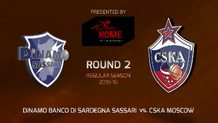 Round 2: Dinamo Banco di Sassari vs. CSKA Moscow (Highlights)