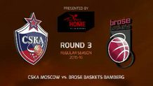 Round 3: CSKA Moscow vs. Brose Baskets Bamberg (Highlights)