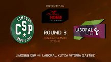 Round 3: Limoges CSP vs. Laboral Kutxa Vitoria Gasteiz (Highlights)
