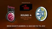 Round 4: Brose Baskets Bamberg vs. Maccabi FOX Tel Aviv (Highlights)