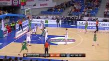 Bourousis goes for a Dunk
