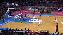 Tyus makes a big block on a big man