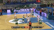 Diamantidis finds Kuzmic in lane.