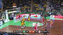 Arapovic feeds Babic for dunk
