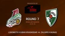 Round 7: Lokomotiv Kuban Krasnodar vs. Zalgiris Kaunas (Highlights)