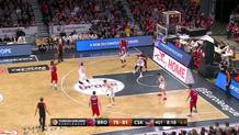 Higgins with the Step Back Three-Pointer