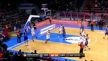 Saric triple takes lead