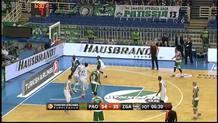 No-look pass from Raduljica to Gist