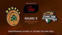 Round 9: Panathinaikos Athens vs. Stelmet Zielona Gora (Highlights)