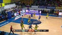 Jan Vesely banks in a buzzer-beater three-point shot!
