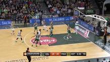 James Gist does what he does best - detonate the alleyoop dunk!