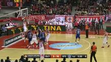 Papapetrou dunks after nice pass