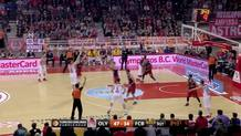 Dimitrios Agravanos (Olympiacos) three-pointer