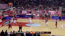 Dimitrios Agravanis (Olympiacos) blocked shot