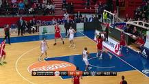 Jacob Pullen (Cedevita) three-pointer