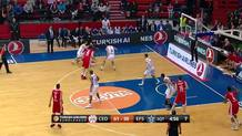 Derrick Brown (Efes) blocked shot