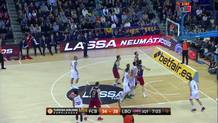 Bourousis fakes and finds Adams