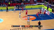 Nick Calathes steal and assist (Panathinaikos)