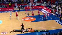 Nick Calathes three-pointer (Panathinaikos)