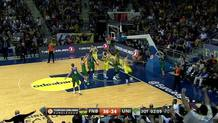Ricky Hickman (Fenerbahce) layup and foul
