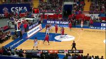 Othello Hunter (Olympiacos) alley-oop slam