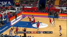 DJ Strawberry (Olympiacos) three pointer