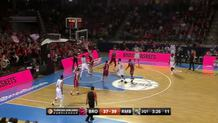 Sergio Rodriguez (Madrid) scoop shot off the glass