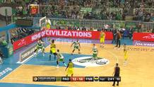 Vesely works the low post