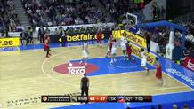 Nikita Kurbanov (CSKA) layup and foul