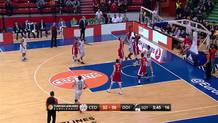 Marcus Slaughter (Darussafaka) three-point play