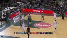 Nikos Zisis (Bamberg) three-point play
