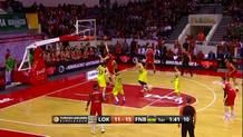 Victor Claver (Lokomotiv) spin move and finger roll