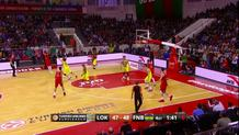 Malcom Delaney (Lokomotiv) three-pointer