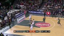 Sergio Rodriguez (Madrid) three-pointer
