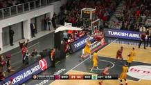 Radosevic ends fast break with a flush