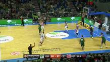 With bodies flying Nedovic sinks it