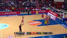 Ricky Hickman (Fenerbahce) three-pointer
