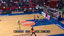 Marko Arapovic (Cedevita) steal and slam