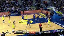 Sloukas beats shot clock